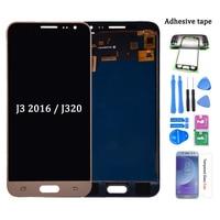 Для Samsung Galaxy J3 2016 J320 J320A J320F J320M ЖК-дисплей с кодирующий преобразователь сенсорного экрана в сборе можно регулировать яркость