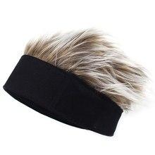Masculino feminino beanie peruca chapéu divertido cabelo curto caps respirável macio para festa ao ar livre nin668