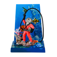Air Action Diver Hunter Treasure Chest Decor Aquarium Fish Tank Decoration Underwater Landscape Ornaments Funny Design