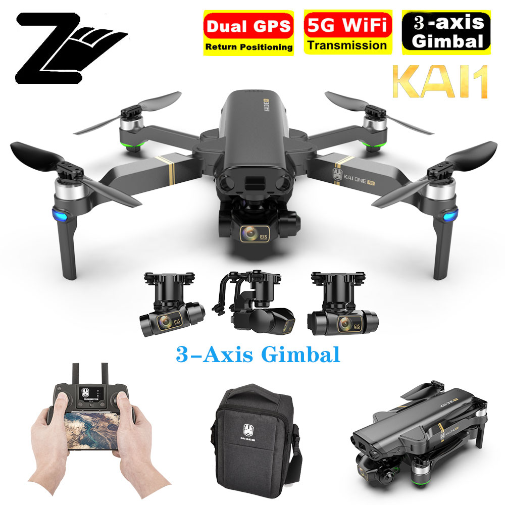 Kai um 2021 novo 4k 8k zangão 3 eixos cardan profissional câmera 5g wifi fpv dron 1.2km distância de voo sem escova do motor quadcopter