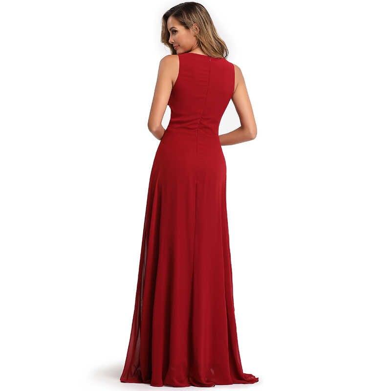 YIDINGZS elegancka szyfonowa formalna suknia wieczorowa przezroczyste aplikacje z koralikami długa sukienka na przyjęcie Robe De Soiree 2020