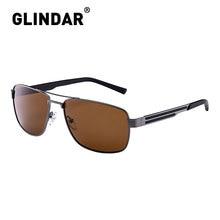 Marka tasarım erkekler polarize güneş gözlüğü kare sürüş güneş gözlüğü erkekler için