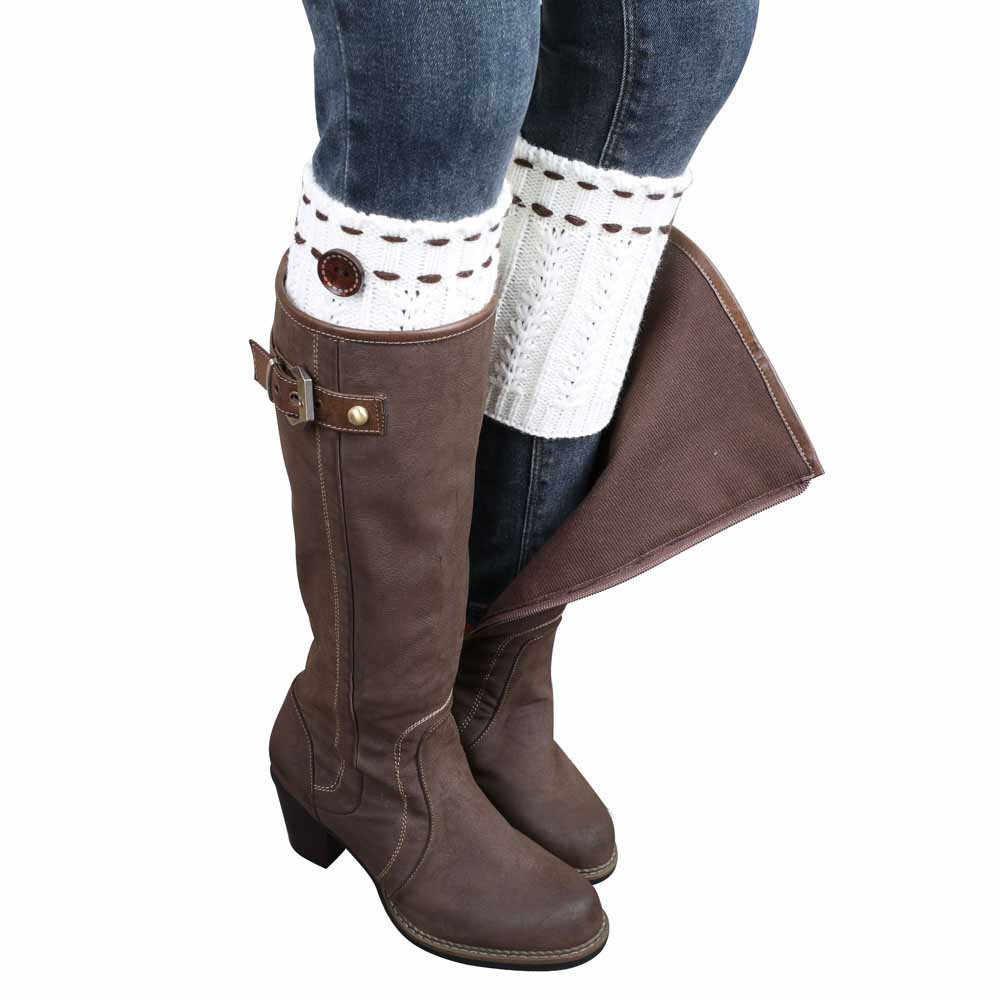 Yeni varış ısıtıcıları bacak ısıtıcısı 1 çift örme bacak ısıtıcısı s çorap bot kılıfı kısa buğday çivili çorap moda komik mutlu çorap 55