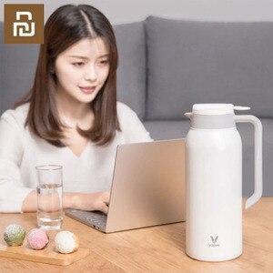 Image 2 - Youpin VIOMI termo kupa 1.5L paslanmaz çelik vakum bardak 24 saat şişesi su şişesi kupası bebek açık akıllı ev