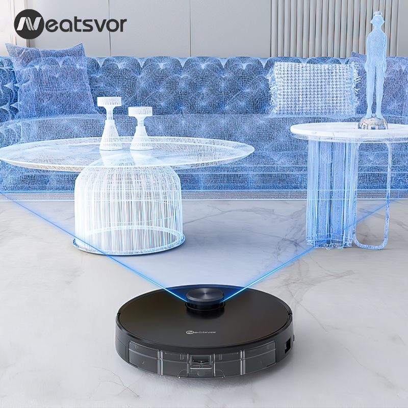 NEATSVOR X600 4000pa Laser Navigation Robot Vacuum Cleaner ,APP Virtual Wall,Breakpoint Cleaning,Draw Cleaning Area,Mopping Wash 6