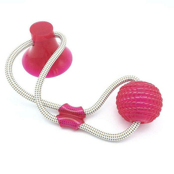 Dog Interactive Suction Cup Push TPR Ball Toys Elastic Ropes Dog Tooth Cleaning Chewing Playing IQ Treat Toys Pet Puppy Supplies 9