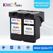 KMCYinks PG510XL CL511XL PG510 خرطوشة حبر لكانون MP240 MP250 MP260 MP280 MP480 MP490 IP2700 MP499 طابعة PG 510 CL 511