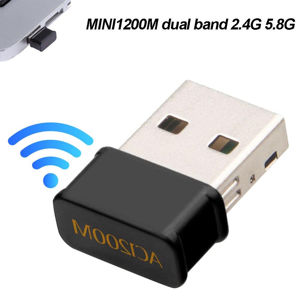 Беспроводной мини-адаптер AC1200Mbps 2,4G/5G Dual Band USB 3,0 для настольного ноутбука