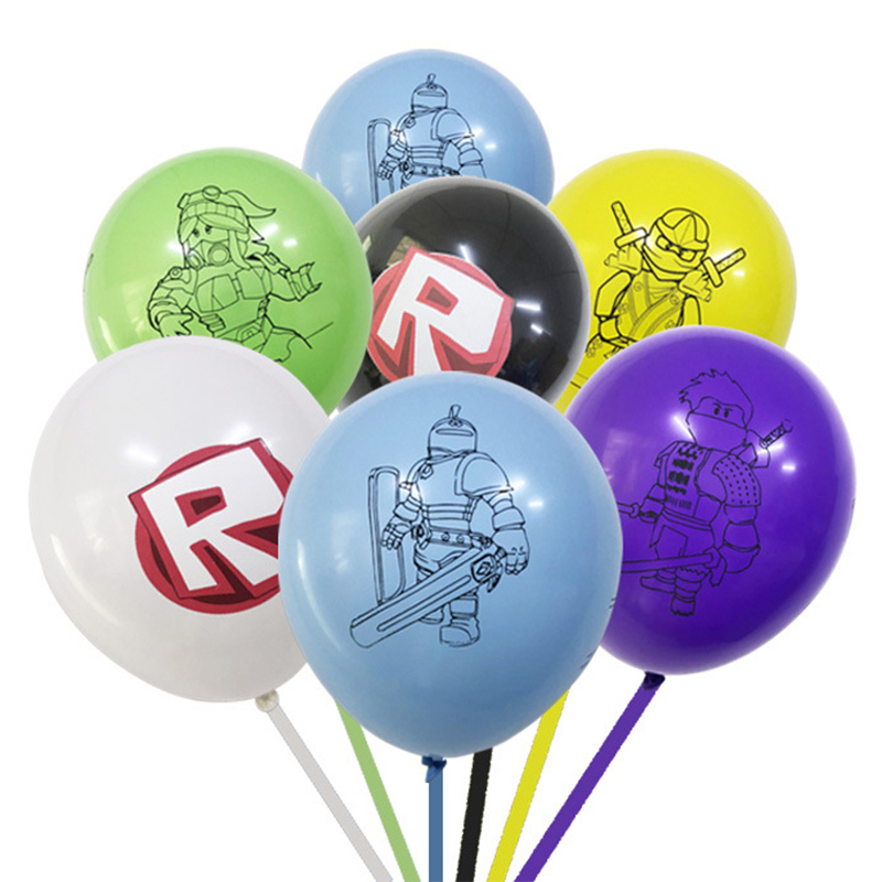 50pcs/set Roblox Game Balloons Cartoon Aluminum Film Balloon Birthday Party Decoration Supplies Action Figure Children Toys Gift image