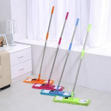 flat mop high quality aluminum alloy mop floor mop cleaning tool stainless steel rod Chenille Stainless Steel Flat Mop Telescopic Comfortable Handle Mop Floor Cleaning Tool for Living Room Kitchen Cleaning Helper