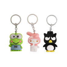 2020 Cute animals doll keychains Cartoon hello kitty frog cat bunny Keychain Kids Toy Girls Pendant keyring Bag key holder Gifts