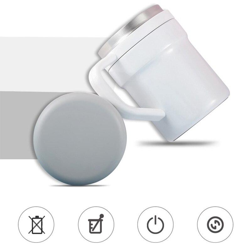 BAISPO кружка из нержавеющей стали с автоматическим перемешиванием, Термокружка с магнитным нагревом, чашка для смешивания кофе, молока, батарея не требуется - 4