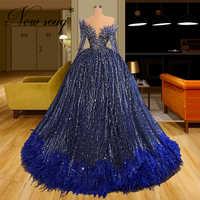 Vestidos De Fiesta formales con cuentas brillantes, vestido De baile De 2021, Vestido largo De noche con diseño De Dubái, vestido De fiesta con hermosa ilusión