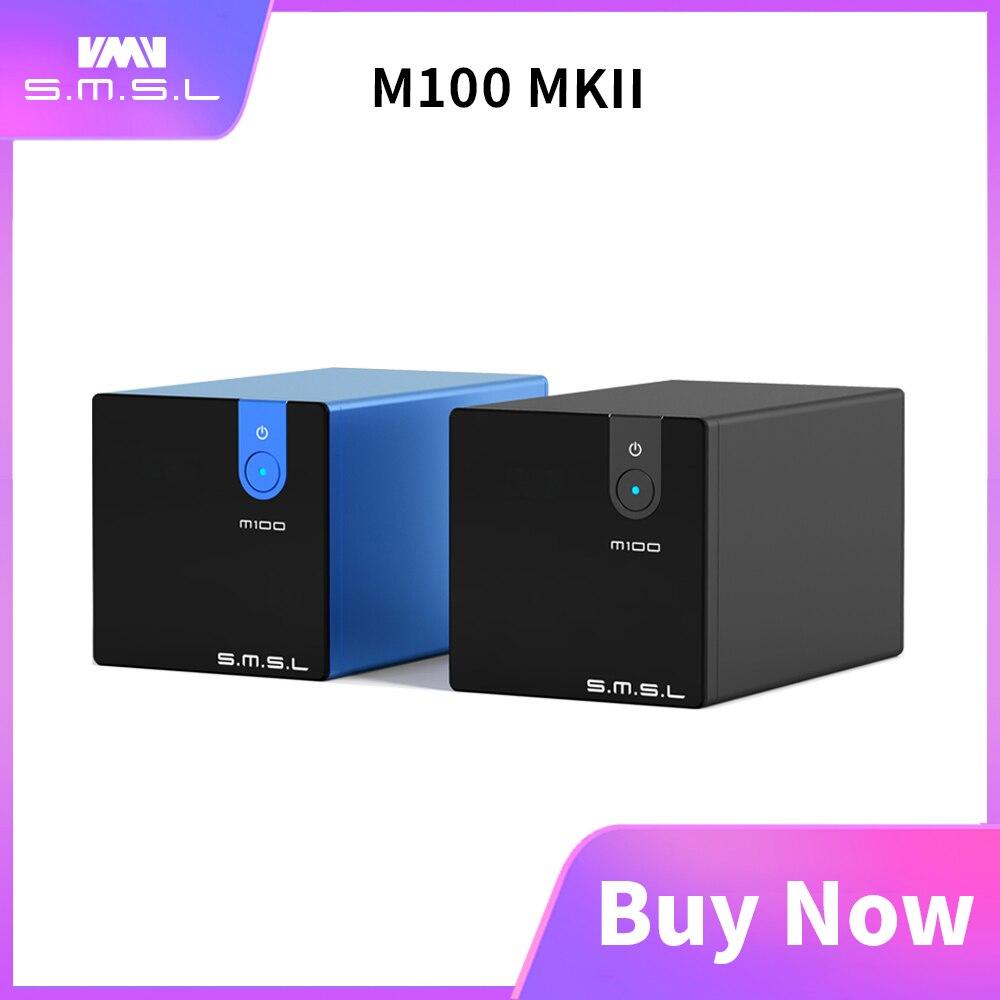 SMSL M100 MKII цифровой USB DAC AK4452 DSD512 32bit/768kHz 106dB оптический SPDIF алюминиевый настольный аудио XMOS декодер
