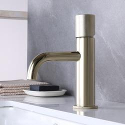 Gold Bathroom Sink Faucet  Brass Cold & Hot Bathroom Faucet Single Handle Spray Mixer Basin Tap Toilet Sink Water Faucet Crane