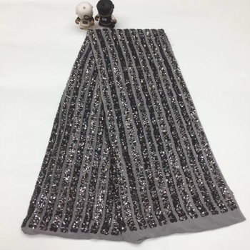 African Sequins Lace Fabric 2020 High Quality lace Embroidered Nigerian Lace Fabrics French Tulle Lace Fabric For Women XX33281