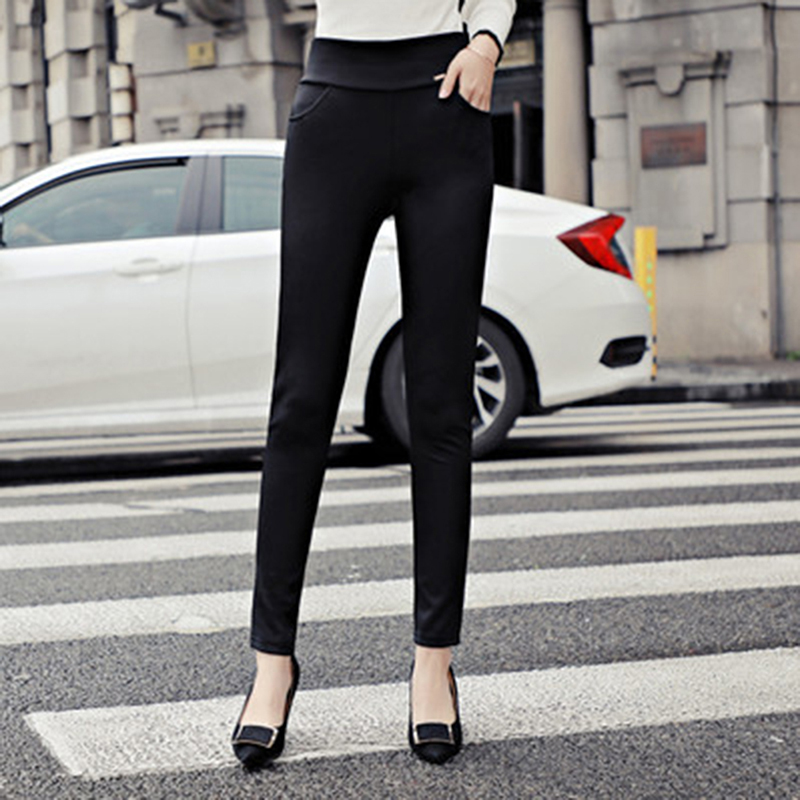 S-3XL women leggings Fashion Solid Loose High Waist Long Leggings Autumn