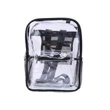 Fashion Transparent PVC Backpack Travel School Book Bag Daypack for Teenager Girls