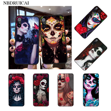 NBDRUICAI Catrina beautiful rose girl Skull Art DIY Luxury Phone Case for Xiaomi Mi9 9SE 8SE Pocophone F1 Mi8 Lite(China)