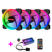 Coolmoon Case Fan PC Cooling RGB Fan with IR Remote Quiet Computer Case CPU Cooler and Radiator Computer Components 120mm fan