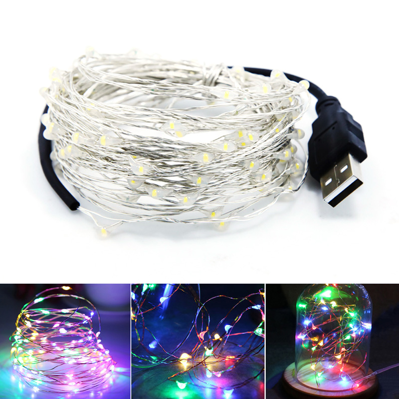 Junejour 10M USB LED String Light Waterproof LED Copper Wire String Outdoor Fairy Lights For Christmas Party Wedding Decoration