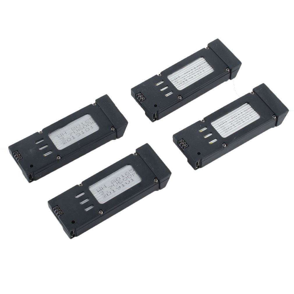 4pcsNew E58 Wifi Fpv Rc Quadcopter Components <font><b>3.7</b></font> <font><b>V</b></font> <font><b>500</b></font> <font><b>Mah</b></font> Lipo Battery Replacement For Fpv Racing Racer Accs Camera Drone image