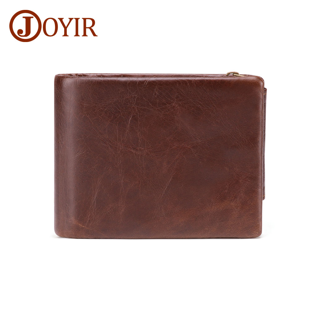 Men Small Genuine Leather Brown Wallet High-Quality Trifold Driving License 226