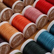 0,4 0,5 0,6 мм круглая вощеная нить, полиэфирный шнур, вощеные Струны для плетеных браслетов, аксессуары «сделай сам» или шитья кожей