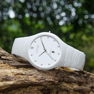Image 4 - HAIYES Black Ceramic Men Watches Top Brand Luxury Simple Crystal Quartz Watches Men Relogio masculino