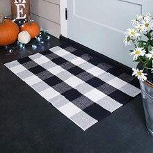 Buffalo xadrez check tapete área decoração do tapete capacho xadrez tapetes de chão bem-vindo em camadas tapete para porta varanda cozinha fazenda tapete