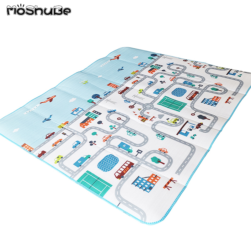 200*180CM Baby Play Mat Road Kid Rug Blanket Developing Mat Soft Floor Children Waterproof Pad Gym Activity Crawling Carpet