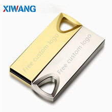 Hot flash drive usb 2.0 Pendrive 128GB 64GB 32GB 16GB disk 8GB 4GB cle USB metal Pen storage u Free Custom Logo