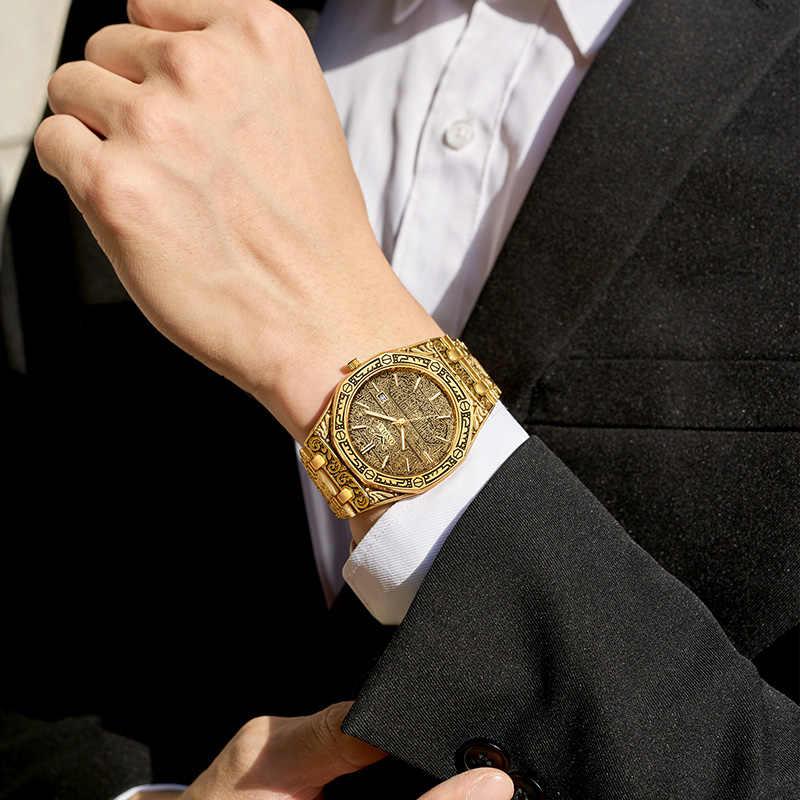 นาฬิกาแฟชั่นผู้ชายยี่ห้อONOLA 2020ใหม่หรูหราClassic Designerสแตนเลสเหล็กนาฬิกาผู้ชายReloj Hombre