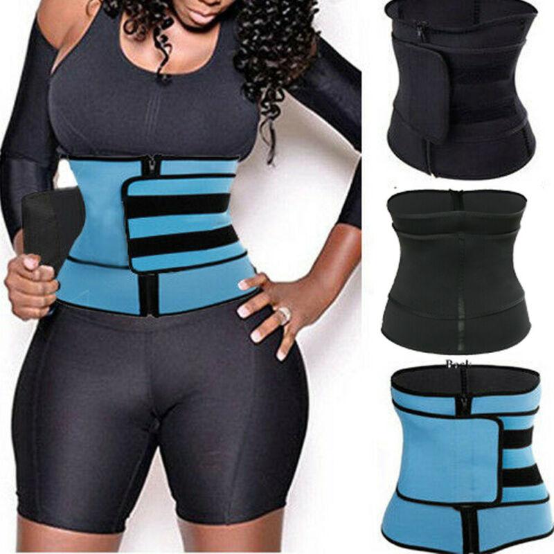 Yoga Slim Waist Trimmer Trainer Belt Weight Loss Burn Fat Body Shaper Gym Girdle