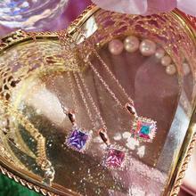 MENGJIQIAONew-collier carré en cristal brillant pour femmes, collier ras du cou à la mode coréenne pour étudiantes, bijoux de fête, cadeaux