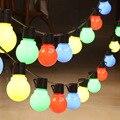 Открытый Водонепроницаемый Рождественские огни 10LED осветительная круглая цепь Edison светодиодные лампы прозрачной лампы INS трансграничной д...