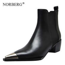woman Chelsea Boots Women Genuine Cow Leather Pointed Toe Ankel for Black Autumn Booties Ladies white Handmade Shoes