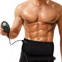Electro Stimulator wibracje mięśni dziesiątki wyszczuplający pas do masażu brzucha rdzeń tonera ABS pas treningowy 150 poziom intensywności