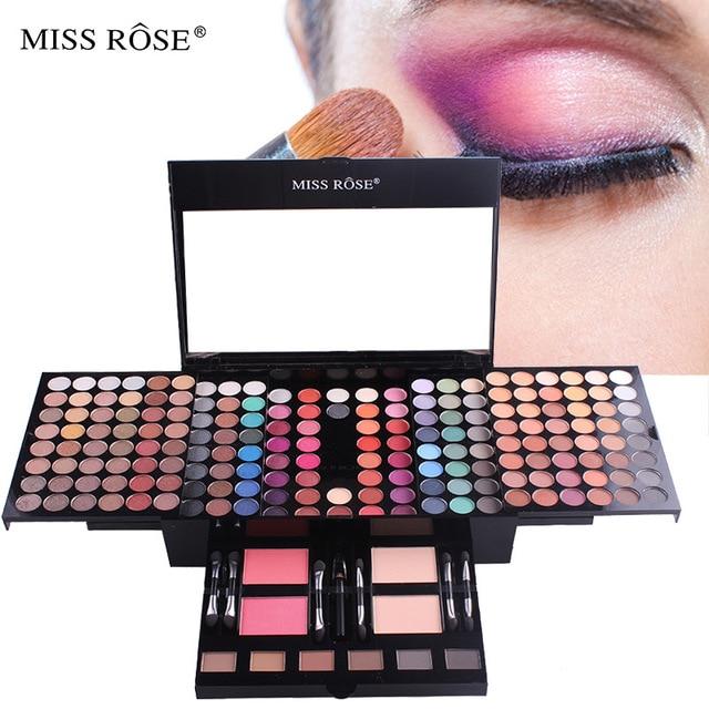 Professional 180 Colors Glitter Matte Makeup Pallete Eyeshadow &Powder Blush Palette Shine Diamond Cosmetics Kit box with mirror 1