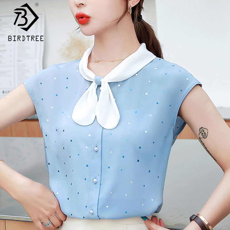 Casual Shirts For Women 2020 Summer Halter Sleeveless Single-breasted Chiffon Blouses Loose Tops All Match T05502K