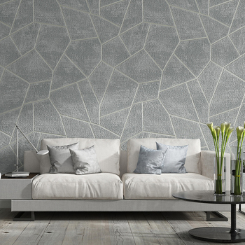 Modern 3D Geometric Suede Wallpaper Non-woven Fabric Bedroom Living Room Sofa TV Background Wall Gray Wallpaper Home Decor Roll vintage non woven plain solid color wallpaper luxury bedroom living room sofa tv background home decor wallpaper for walls roll