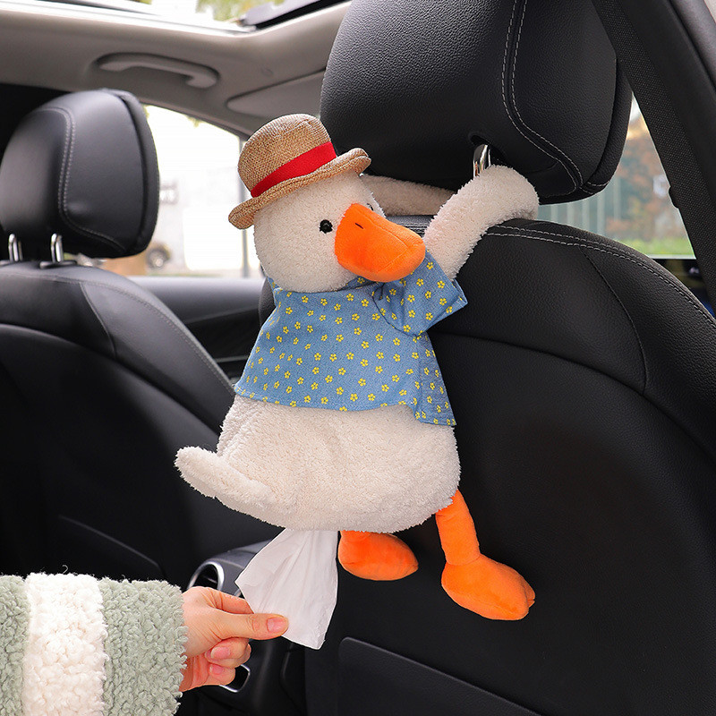 duck Creative  Ass Tissue Box Soft Cartoon Paper Napkin Case Cute Animals Car Paper Boxes Lovely Napkin Holder for Car Seat