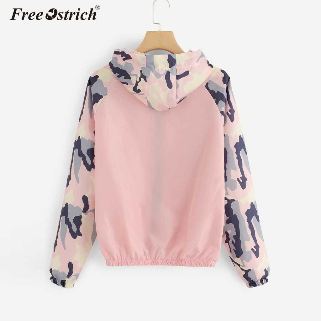 Freier Ostrich Jacken Frauen 2019 Sommer Jacke Frauen Mit Kapuze Grundlegende Jacke Casual Windjacke Weibliche Jacke Outwear Frauen Mantel N30