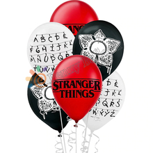 12 Uds. De Globos Stranger Things de látex, decoraciones para fiesta de cumpleaños, suministros de juguetes para fiestas, Globos