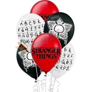 Image 1 - 12 stücke Fremden Dinge Luftballons Latex ballon Geburtstag Party Dekorationen Spielzeug Partei Liefert Globos