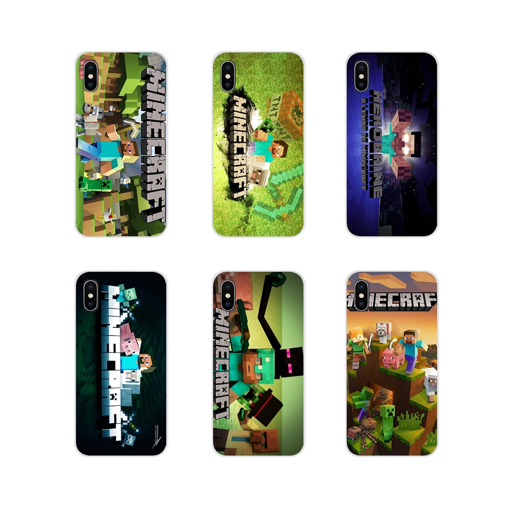 green MINECRAFT steve funny Transparent TPU Skin Cover For Apple iPhone X XR XS MAX 4 4S 5 5S 5C SE 6 6S 7 8 Plus ipod touch 5 6 image