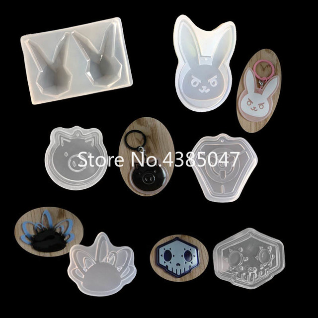 1PC Rabbit Pig Pendant DIY Silicone Mold Dried Flower Jewelry Accessories Tools Equipments Resin Molds