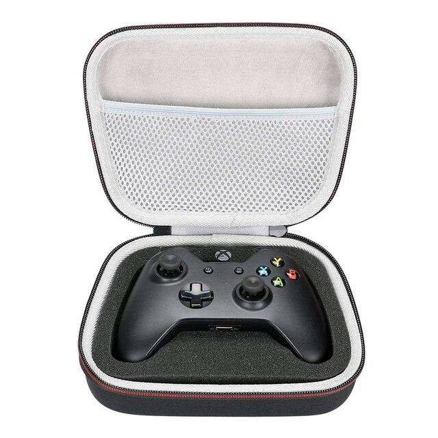 Estojo rígido eva para viagem, bolsa portátil para carregamento para xbox one/xbox one s/xbox one x 360 controlador com malha de bolso cabe plug