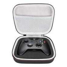 収納 eva ハードケース旅行ポータブルバッグ xbox one/xbox one s/xbox one x 360 コントローラとメッシュポケットは、プラグ