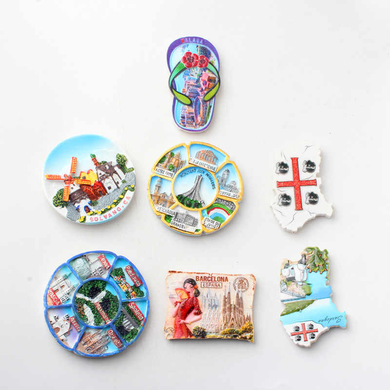 Magnet Sticker Fridge 3D World Travel Souvenir Collection Magnet Gifts Décor